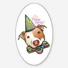 Pittie Party Oval Decal