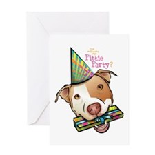 Pittie Party Greeting Card