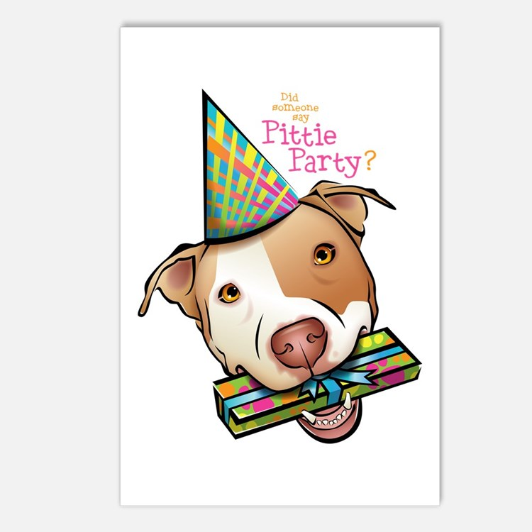 Pittie Party Postcards (Package of 8)