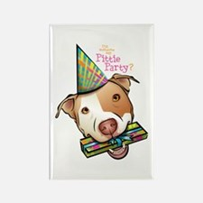 Pittie Party Rectangle Magnet (100 pack)
