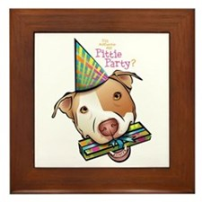 Pittie Party Framed Tile