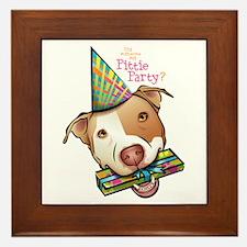 Pittie Party Framed Tile