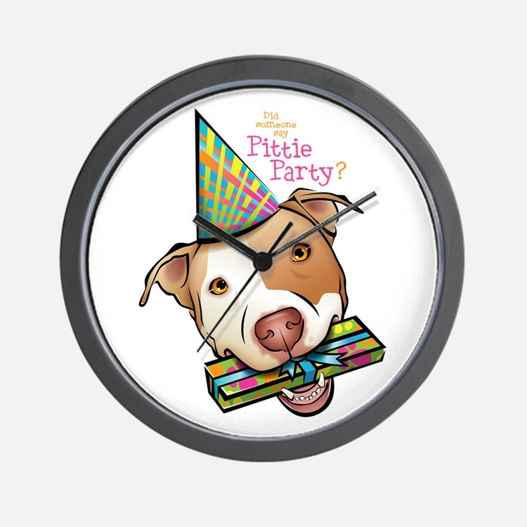 Pittie Party Wall Clock