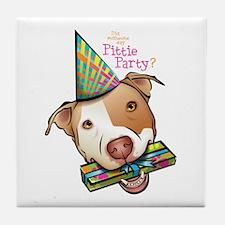 Pittie Party Tile Coaster