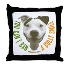 Bully Smile Throw Pillow