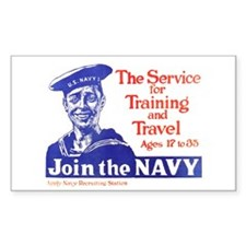 Join The Navy Rectangle Decal