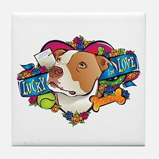 Lucky in Love Tile Coaster