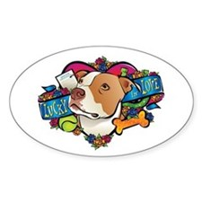 Lucky in Love Oval Decal