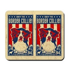 Border Collie Patriotism USA Mousepad