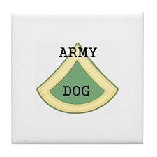 army dog Tile Coaster