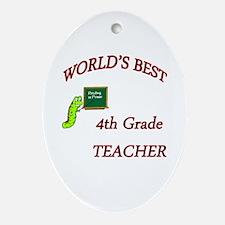 Cute 4th grade teachers Oval Ornament