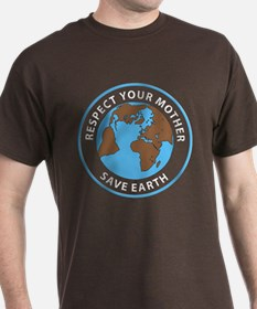 Save Earth Black T-Shirt