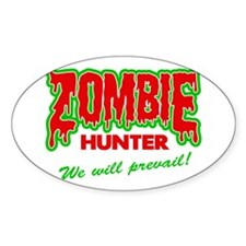 Zombie Hunter Society Oval Decal