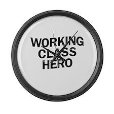 Working Class Hero Large Wall Clock