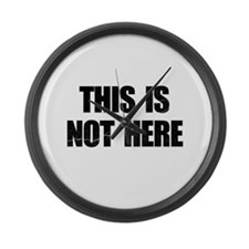 This is Not Here Lennon Large Wall Clock