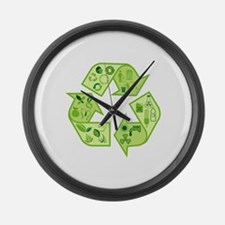 Go Green Tree Recycle Large Wall Clock