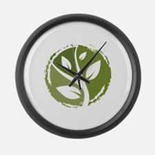 Go Green Leaf Recycle Large Wall Clock