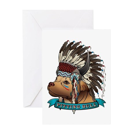Pitting Bull Greeting Card