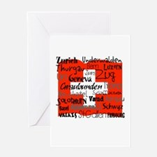 Swiss Cantons Flag Greeting Card