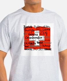 Swiss Cantons Flag T-Shirt