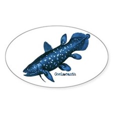 Coelacanth Oval Decal