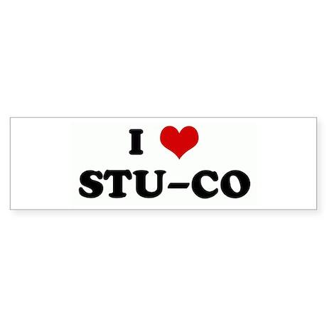 I Love STU-CO Bumper Sticker