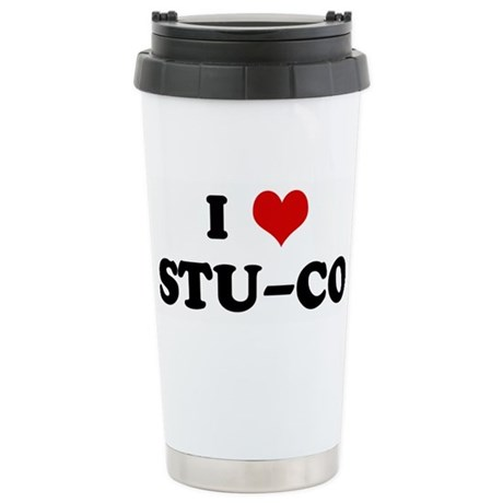 I Love STU-CO Stainless Steel Travel Mug