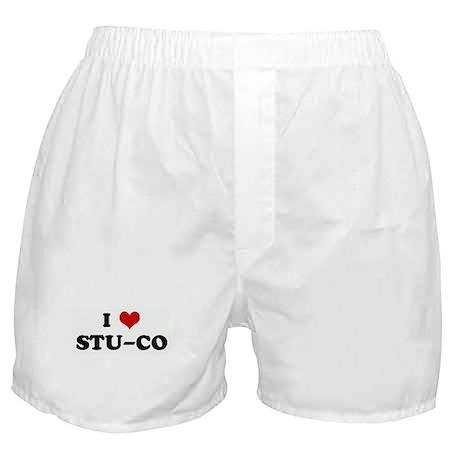 I Love STU-CO Boxer Shorts