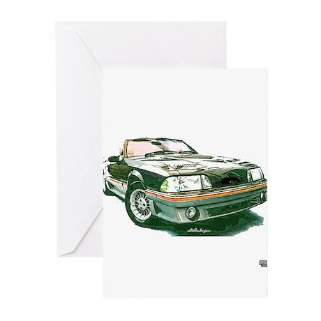 Mustang 87-93 RWB5spd Greeting Cards (Pk of 10)