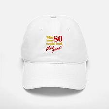 Funny 80th Birthday Gag Gifts Baseball Baseball Cap