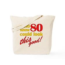 Funny 80th Birthday Gag Gifts Tote Bag