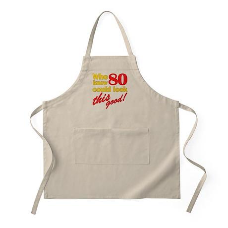 Funny 80th Birthday Gag Gifts BBQ Apron