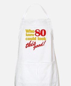 Funny 80th Birthday Gag Gifts BBQ Apron