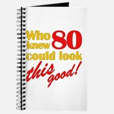 Funny 80th Birthday Gag Gifts Journal