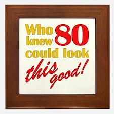 Funny 80th Birthday Gag Gifts Framed Tile
