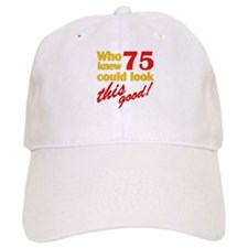 Funny 75th Birthday Gag Gifts Baseball Cap
