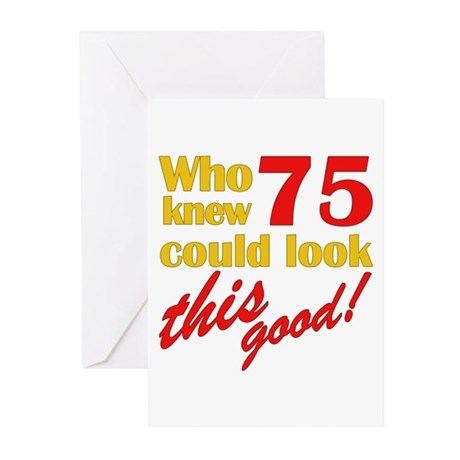 Funny 75th Birthday Gag Gifts Greeting Cards (Pk o