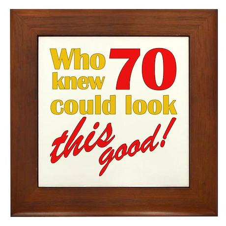 Funny 70th Birthday Gag Gifts Framed Tile