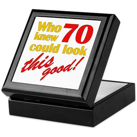 Funny 70th Birthday Gag Gifts Keepsake Box