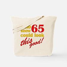 Funny 65th Birthday Gag Gifts Tote Bag