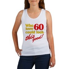 Funny 60th Birthday Gag Gifts Women's Tank Top