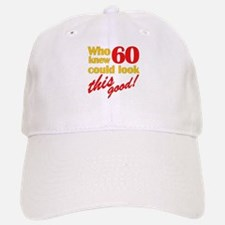 Funny 60th Birthday Gag Gifts Baseball Baseball Cap