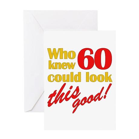 Funny 60th Birthday Gag Gifts Greeting Card
