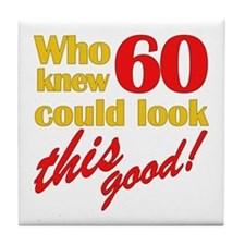 Funny 60th Birthday Gag Gifts Tile Coaster
