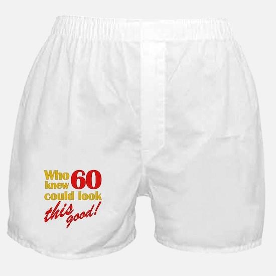 Funny 60th Birthday Gag Gifts Boxer Shorts