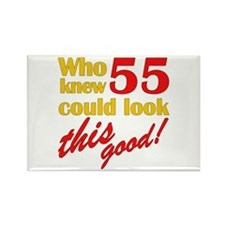 Funny 55th Birthday Gag Gifts Rectangle Magnet