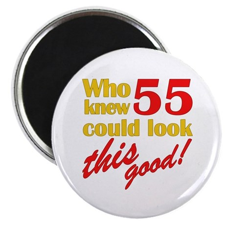 "Funny 55th Birthday Gag Gifts 2.25"" Magnet (10 pac"