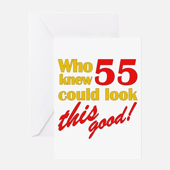Funny 55th Birthday Gag Gifts Greeting Card