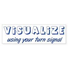 Turn Signal Bumper Sticker - Blue (50 pk)