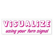 Turn Signal Bumper Sticker - Pink (50 pk)